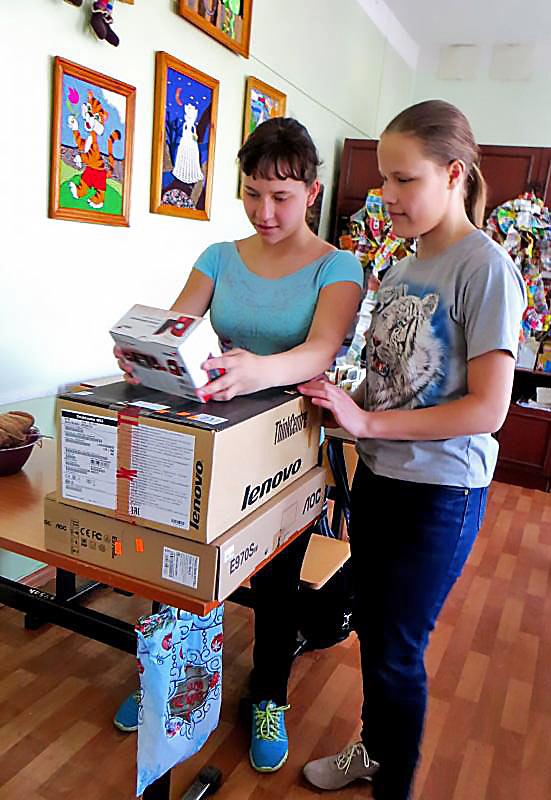 Наши подарки ученикам школы №2 г. Ангарска