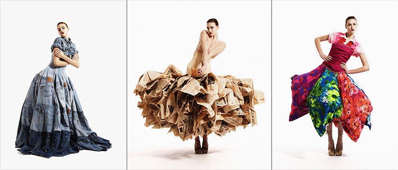 """Модели платьев от Гэри Харви. МУзей МУсора """"МУ МУ"""""""