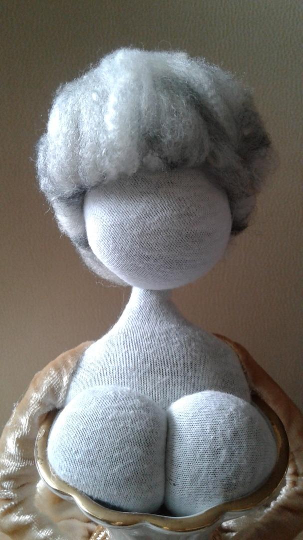 Пошаговое изготовление куклы в вазе