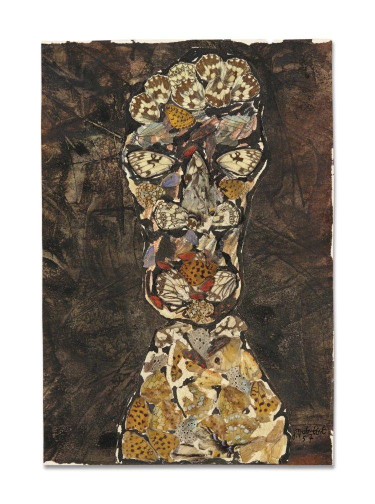 Дюбюффе, «Портрет мужчины», 1957 г.