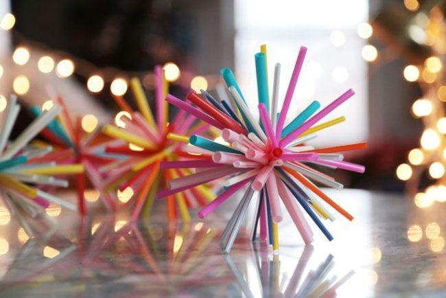 Коктейльные трубочки как материал для творчества