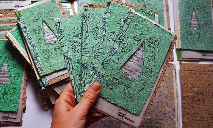 Изготовление открыток из макулатуры